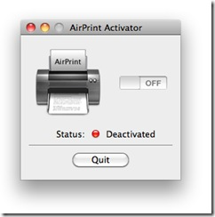 AirPrint Activator togle Switch
